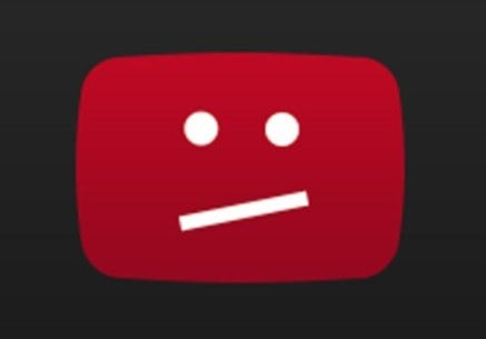 тъжна грешка в youtube