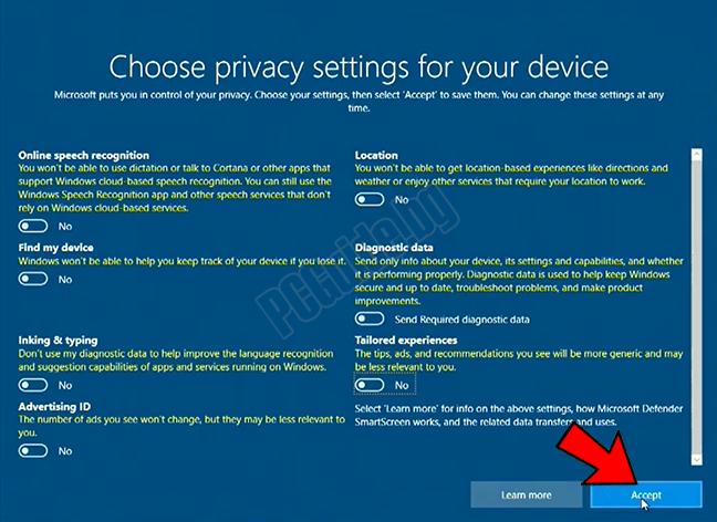 privacy settingsа