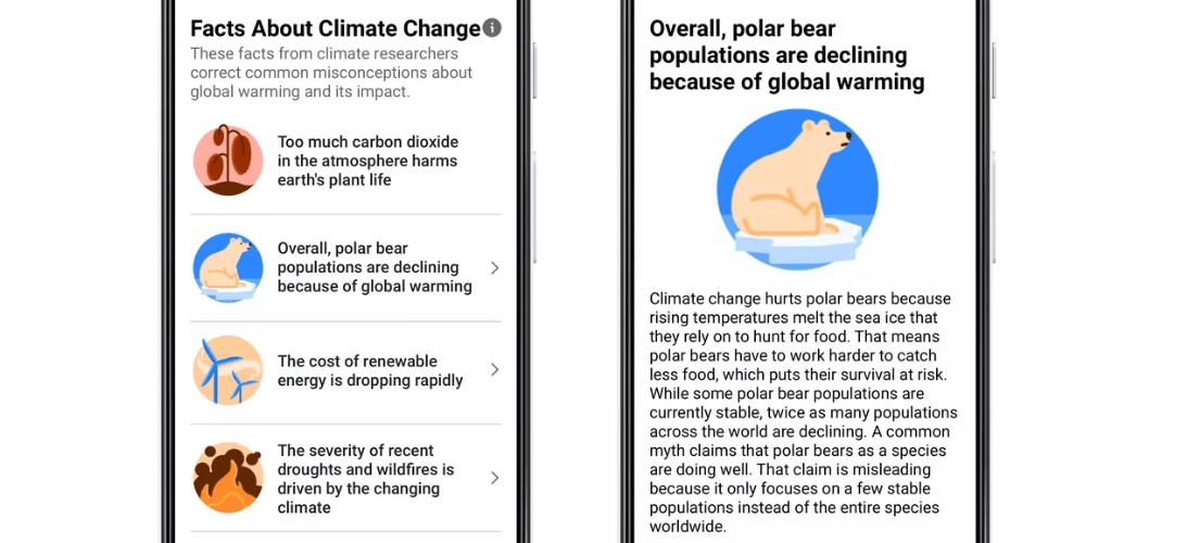 Facebook ще маркира постове, които заблуждават за климатичните промени