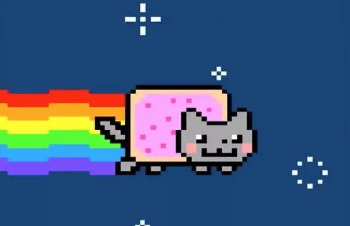 Nyan Cat GIF беше продаден за $600 хиляди в ETH, подсилвайки новата крипто сензация NFT