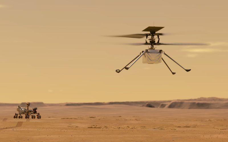 Марсианският вертолет носи частица от първия самолет на братя Райт