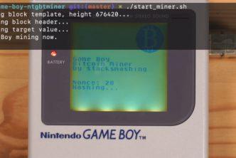 Показаха добив на боткойни с помощта на малката конзола Game Boy