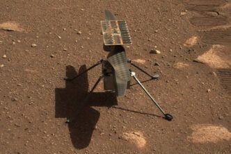Марсианският вертолет Ingenuity раздвижи перките на витлото преди полета
