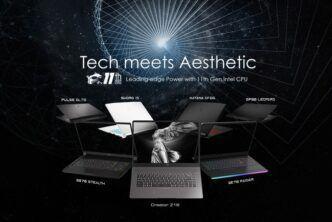 MSI разкри нови геймърски лаптопи и преносими бизнес модели от линията Creator