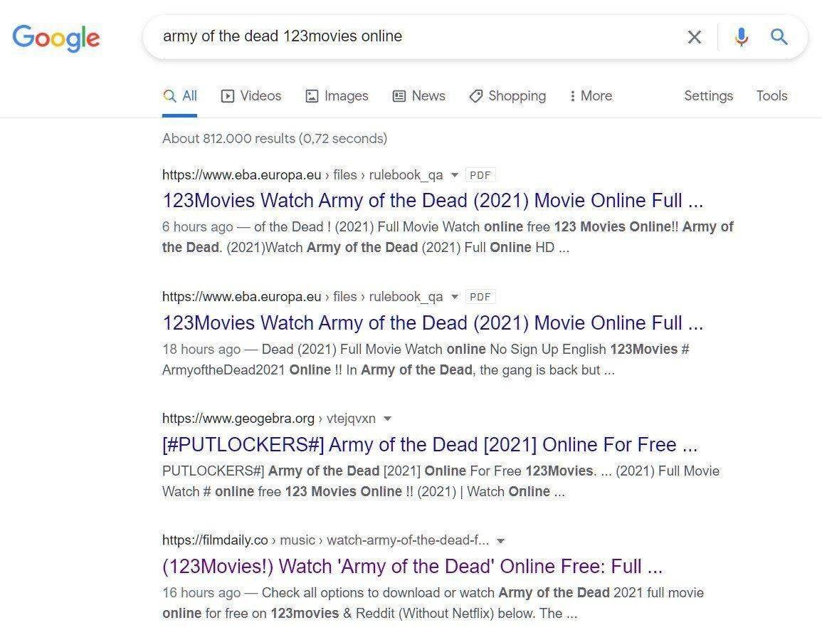 мъртъв google