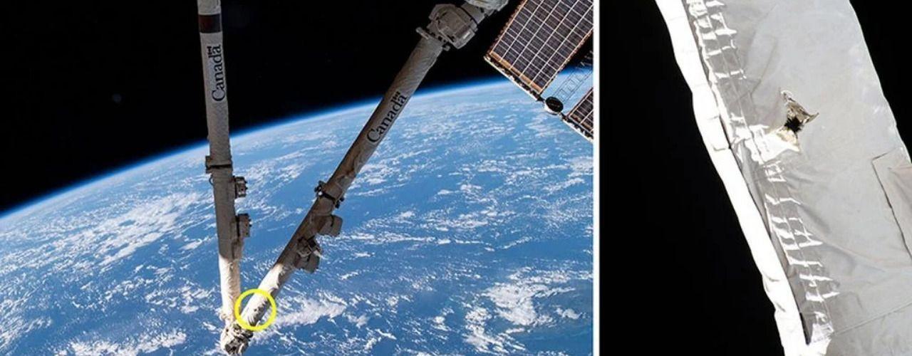 Космически отпадък удари и повреди МКС
