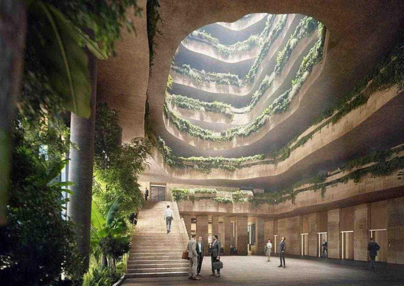 Интериорът на централата на Sanko ще бъде отдаден най-вече на офис помещения и подреден около голям централен атриум