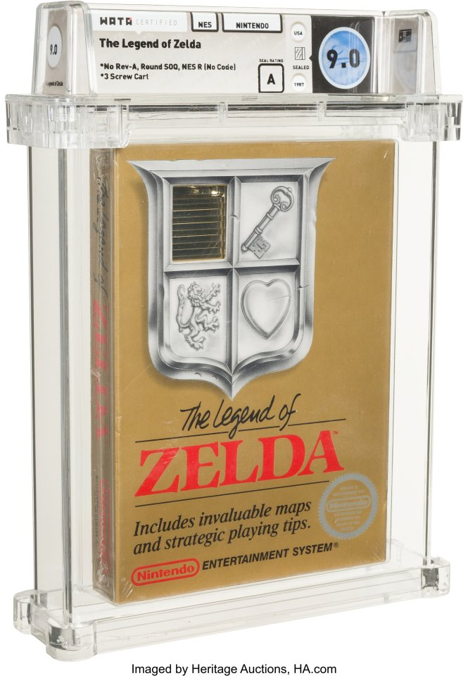 """Новият рекорд е едно от само двете запечатани копия на """"NES TM"""", класирани от Wata, и е от вариант на играта, който се произвежда само за няколко месеца в края на 1987 г. като част от първия истински сериал."""