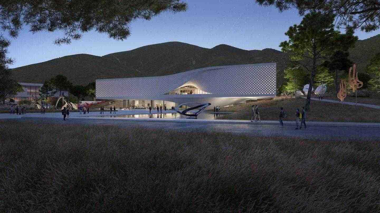 Художественият музей Chungnam ще е с размери 13 797 кв. М (148 509 кв. Фута) и ще бъде заобиколен от обширно остъкляване