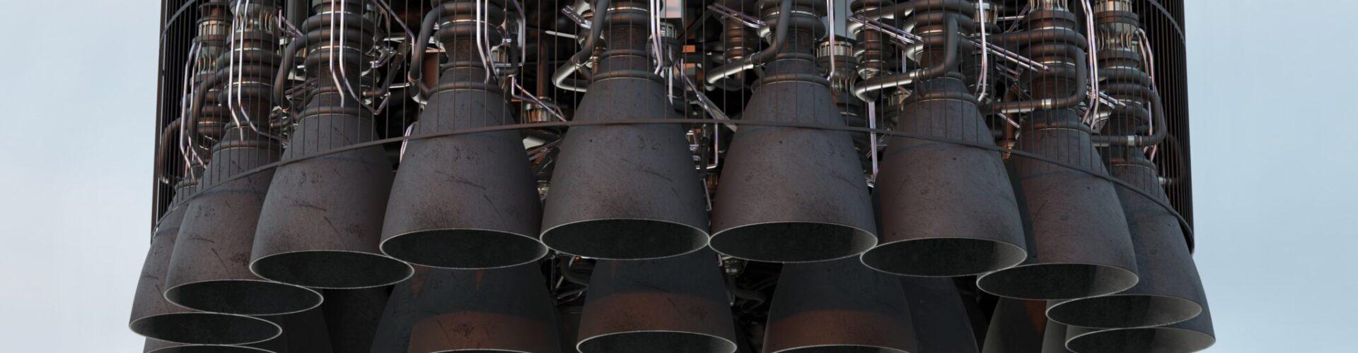 За една нощ SpaceX инсталира 29 ракетни двигателя на ракетата Super Heavy