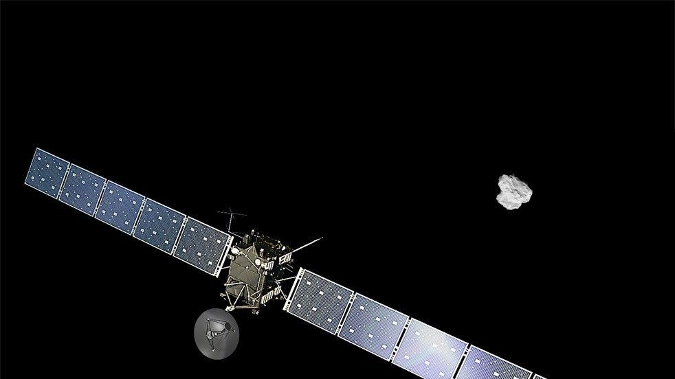 Концепция на художника за космическия кораб Rosetta