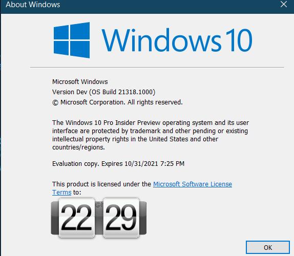 Излезе бетата на Windows 10 версия 21318