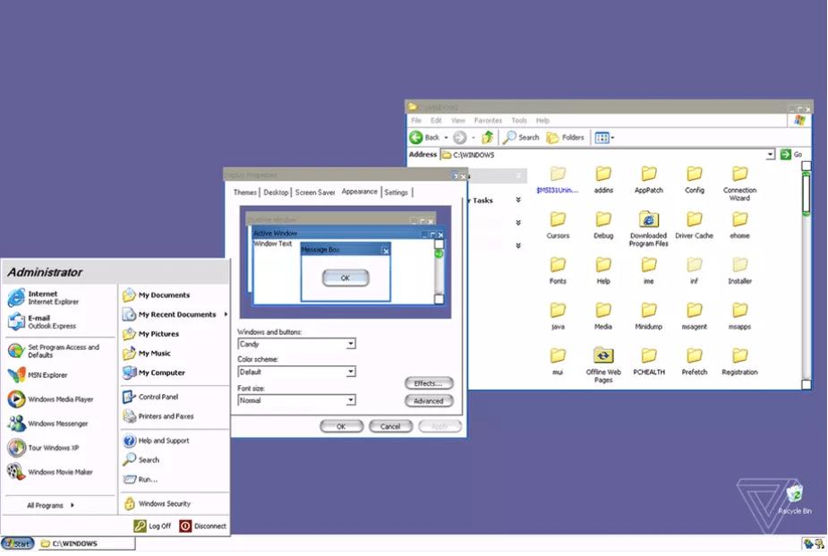 Microsoft е създала таен дизайн за Windows XP, който наподобява macOS
