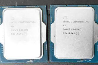 Появиха се технически характеристики на процесорите Intel Core от 12-то поколение