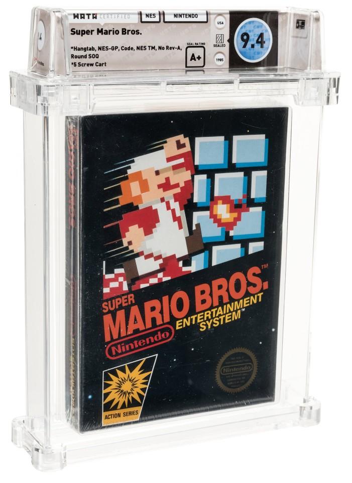 Предишната световна рекордна цена от 660 000 долара се държеше от най-старото фабрично запечатано копие на Super Mario Bros., което е една от най-разпознаваемите и популярни игри за всички времена, с над 50 милиона продадени копия. Марио е сред най-разпознаваните измислени или измислени герои в света и тази игра стартира това, което ще се превърне в най-големия франчайз за игри. Измерен в долари, взети на търг, Марио в крайна сметка може да бъде признат за огромния си принос към съвременната култура.