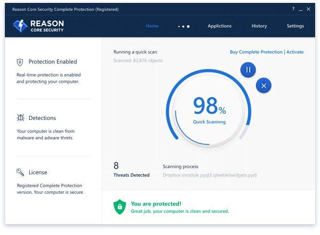 Reason Core Security – пази от малуер, оптимизира
