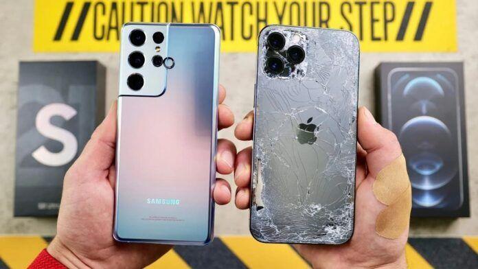 Сравниха здравината на Samsung S21 Ultra и iPhone 12 Pro Max